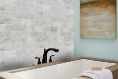 3x6 Subway Tile - Carrara White Honed