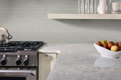 Herringbone Pattern - Gray Glossy